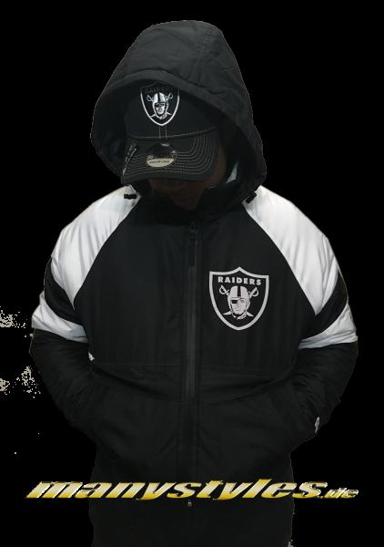 bald Las Vegas Raiders noch Oakland Raiders NFL Puff Jacket Black White OTC von New Era