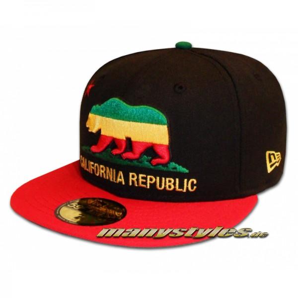 Unlicensed Cap California Republic Cali Bear exclusive Black Jamaica ed.