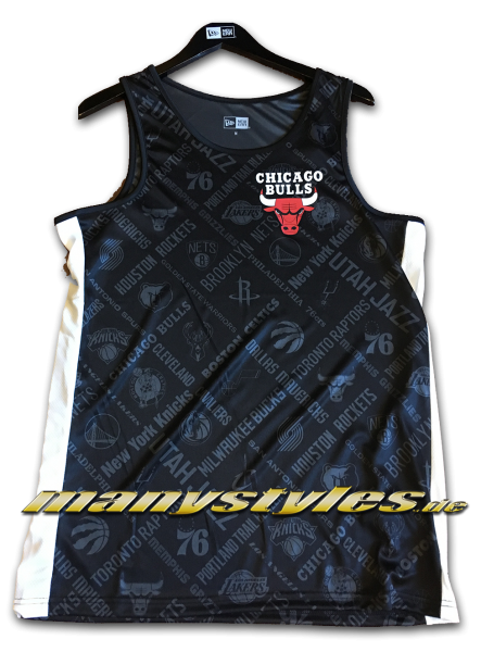 Chicago Bulls NBA AOP Tee Tank Top Black Graphite Grey von New Era