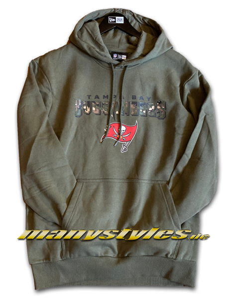 Tampa Bay Buccaneers NFL Camo Wordmark PO Hooded Sweatshirt Kapuzenpullover November Olive Camouflage von New Era
