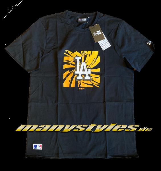 LA Dodgers MLB Graphic Box Tee T-Shirt Black Yellow von New Era