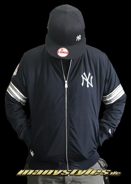 NY Yankees MLB Team Apparel Zip Bomber Jacket Navy White OTC von New Era