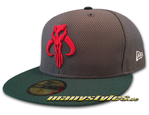 Star Wars Licensed Disney 59FIFTY Fitted exclusive Cap The Mandalorian Brothers All Graphite Green Scarlet Red White von New Era Front
