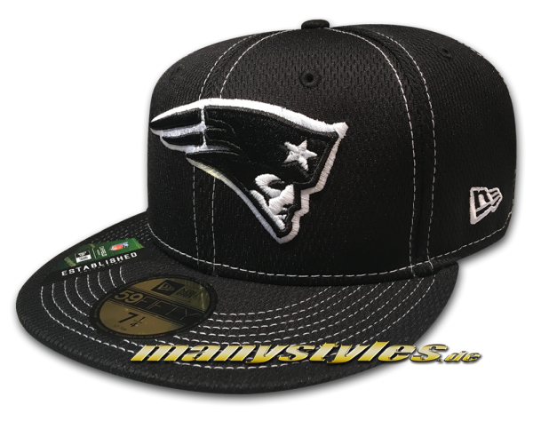 New England Patriots 59FIFTY Fitted NFL19 SL RD 5950 Sideline 2019 Cap Black White von New Era