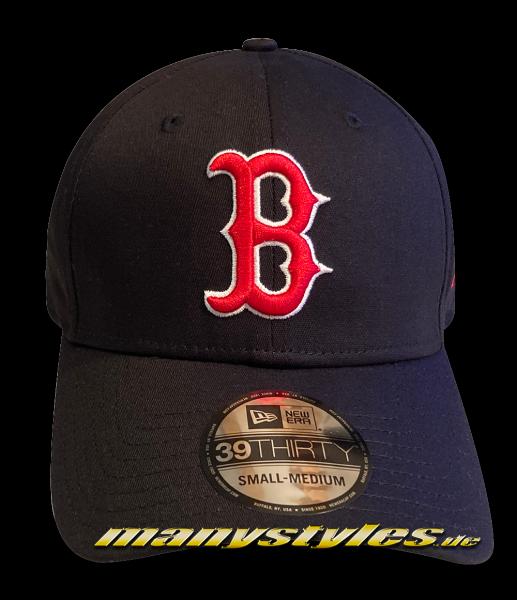 Boston Red Sox MLB 39THIRTY Curved Visor Cap Black Red White von NEW ERA