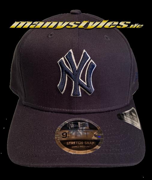 NY Yankees MLB 9FORTY Curved Visor Adjustable Team Contrast Outline Cap Navy White von New Era