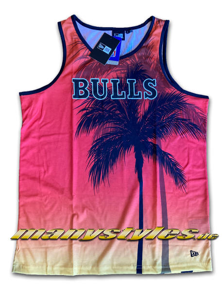 Chicago Bulls NBA AOP Summer City Tank Sunset von New Era