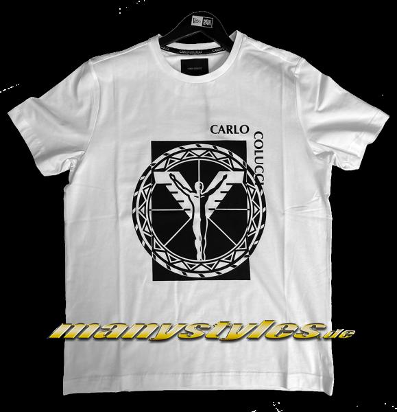 Carlo Colucci Milano Italy Logo T-Shirt White Black