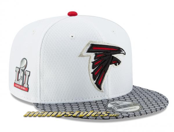 Atlanta Falcons official NFL USA Media Day LI Superbowl 9FIFTY Snapback Cap White New Era