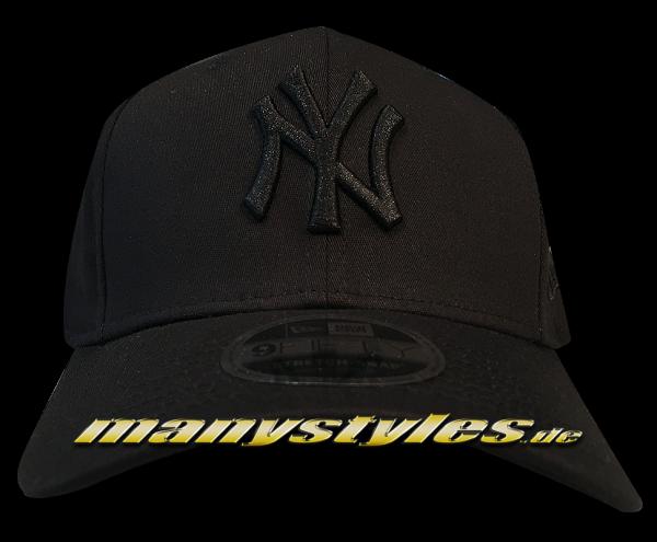 NY Yankees MLB 9FIFTY Tonal Stretch Snapback Cap 950 SS StretchSnapback Black on Black von New Era