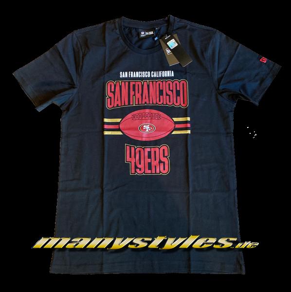 San Francisco 49ers NFL Football Tee T-Shirt Black OTC von New Era