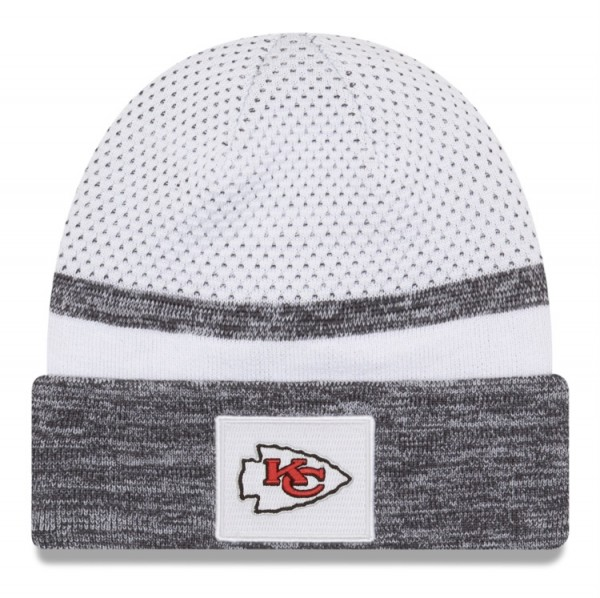 Kansas City Chiefs NFL Beenie Knit Superbowl Parade Patch LV Grey White von New Era