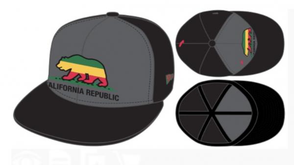 New Era Unlicensed Cap California Republic Cali exclusive Black Graphite Grey Jamaica Ltd ed 59FIFTY