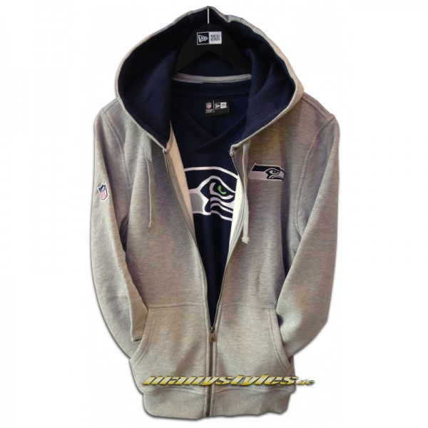 Seattle Seahawks NFL Full Zip Hooded Sweater Official Team Color