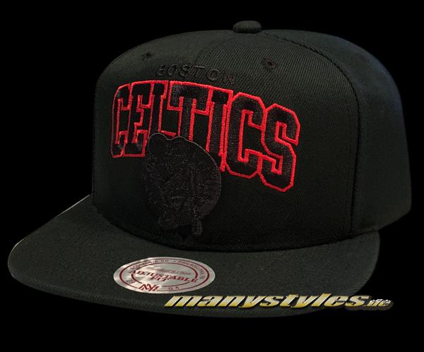 Boston Celtics NBA Snapback Cap Red Pop Team Arch Black Red von Mitchell and Ness