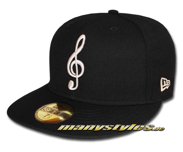New Era 59FIFTY Unlicensed manystyles The Music Note exclusive Cap in Black White