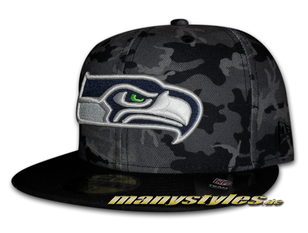 Seattle Seahawks 59FIFTY NFL Camo Team Fitted Cap TC Camouflage