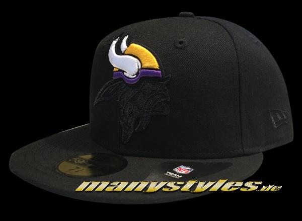Minnessota Vikings 59FIFTY Fitted Cap Elements Black Purple Yellow White OTC von New Era