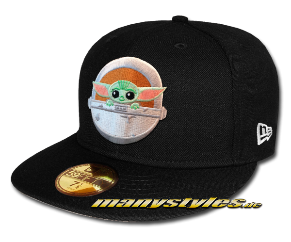 Star Wars Licensed Disney 59FIFTY Fitted Exclusive Cap The Baby Yoda Mandalorian Black Graphite OTC von New Era Front