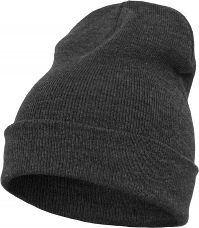 Blank Flex Fit Premium Beenie Dark Grey von Yupoong