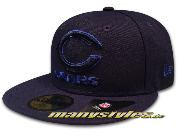 Chicago Bears NFL 59FIFTY Fitted League Pop 5950 Cap von NEW ERA