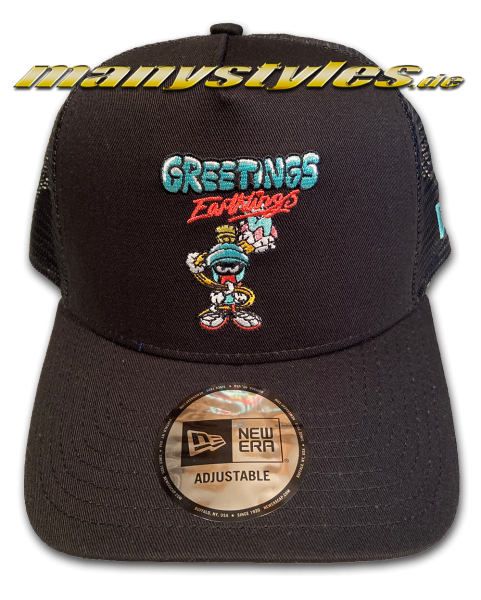 Looney Tunes Marvin The Martian 9FORTY WB Character Trucker Cap Black von New Era