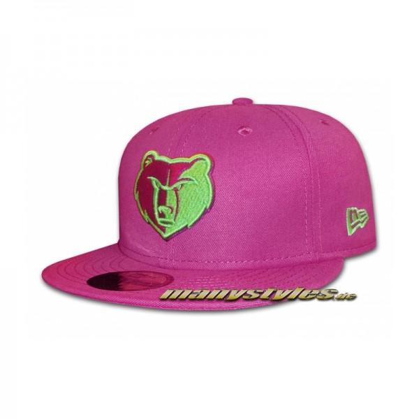 Memphis Grizzlies 59FIFTY NBA Basic Cap Sparkling Grape Lime 59Fifty-Copy