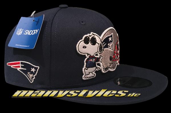 New England Patriots 9FIFTY NFL Peanuts Cap 950 Snapback Cap Ocean Blue White von New Era Alternate View