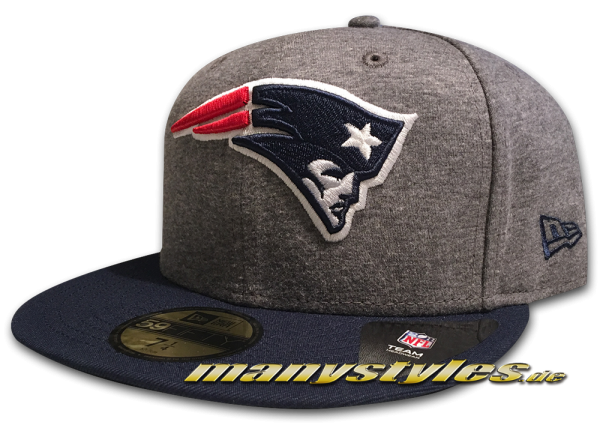 New England Patriots NFL 59FIFTY Jersey Essential Cap Graphite Black von New Era