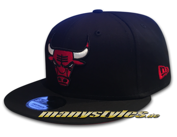 Chicago Bulls 9FIFTY NBA Team Classic Snap Snapback Cap Black OTC