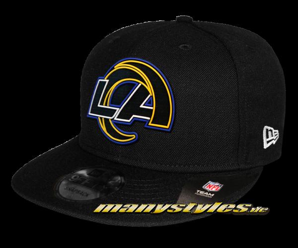 LA Rams NFL 2020 Draft Official 950 9FIFTY Snapback Cap Black OTC von New Era