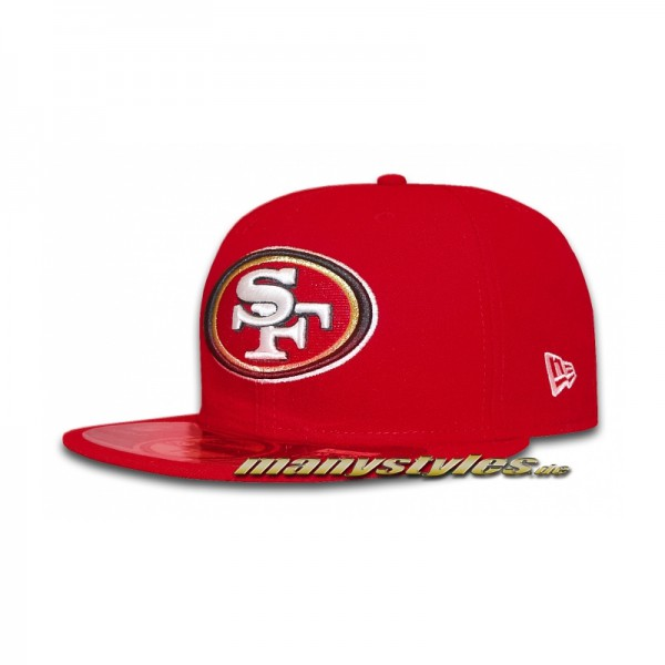 San Francisco 49ers 59FIFTY NFL Authentic Cap Game Red