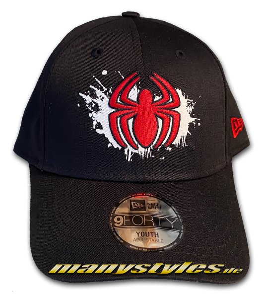 Marvel Comic Spiderman 9FORTY Kids Character Splat Youth Adjustable Cap Black Red