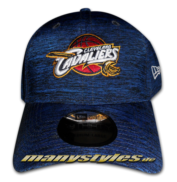 Cleveland Cavaliers NBA Stretch Space Dye Curved Visor Flex Fit Cap Navy TC
