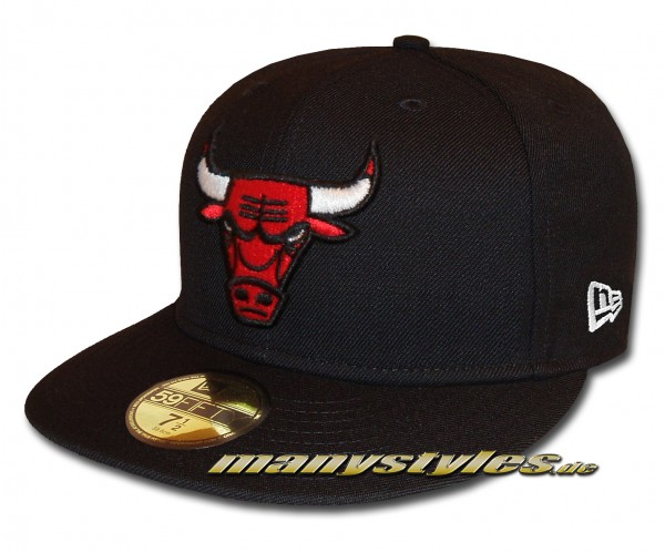Chicago Bulls 59FIFTY NBA Basic Logo exclusive Cap Black Team