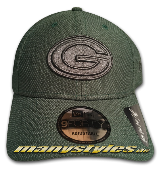 Greenbay Packers NFL 9FORTY Diamond Era Mono Team Color Cap Green von New Era
