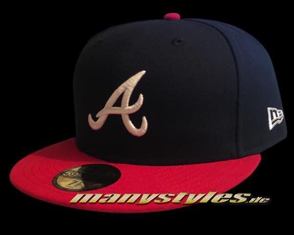 Atlanta Braves 59FIFTY MLB NE Team Structure Authentic Performance Cap Home von New Era