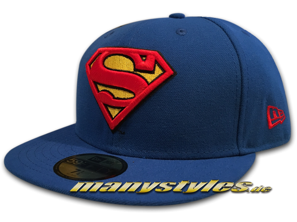 New Era Superman DC Comics 59FIFTY Basic Badge OTC Team Royal