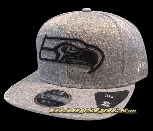 Seattle Seahawks NFL Jersey Tech 9FIFTY Snapback Cap Heather Grey Black von New Era