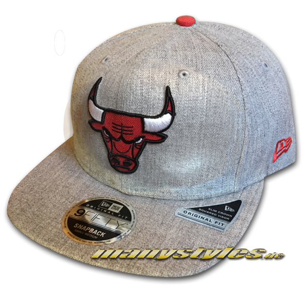 Chicago Bulls 9FIFTY NBA Heathered Hype OF Original Fit Snapback Cap Original Official Team Color OTC von New Era