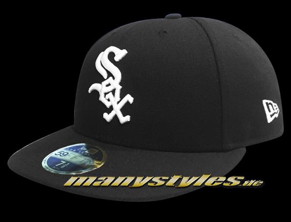 Chicago White Sox MLB LC Authentic Performance Low Profile Cap Curved Visor Black White LP Low Profile Cap von New Era