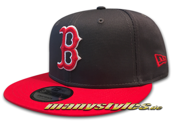 Boston Red Sox 9FIFTY League Essential Snapback Cap Graphite Grey Scarlet Red White Cap von New Era