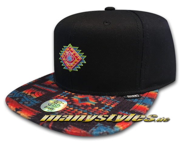 Djinns Snapback Cap Aztek Crown Black