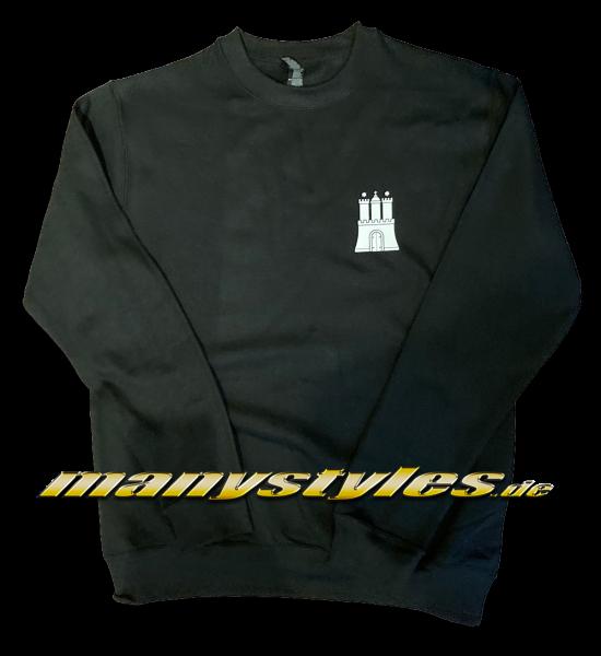 manystyles HH Hamburg exclusive Crewneck Sweatshirt Pullover Hammaburg Black White