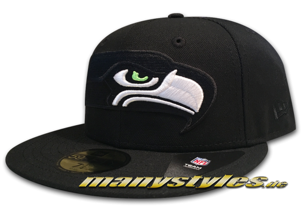 Seattle Seahawks NFL 59FIFTY Fitted Cap Elements Black OTC von New Era