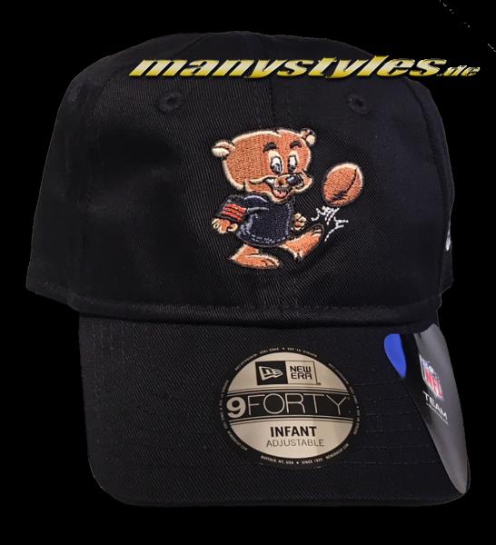 Chicago Bears NFL 9Forty Infant Mascot Kids Cap Black von New Era