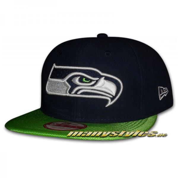 Seattle Seahawks 9FIFTY NFL on field Sideline Snapback Cap