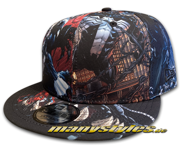 New Era Marvel Comic Venom 9FIFTY Snapback Cap Multi Color All Over Sketches