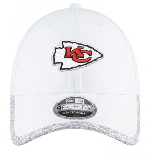 Kansas City Chiefs NFL Superbowl SBLV 9FORTY Adjustable Curved Visor Cap White Grey von New era