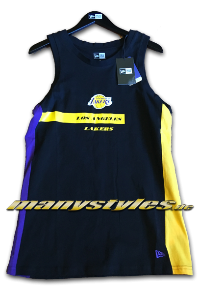 LA Lakers NBA All Team Block Wordmark Tank Top Black Purple yellow OTC von New Era